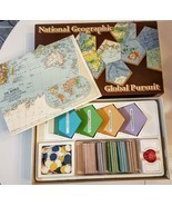 National Geographic Global Pursuit Board Game VTG 1987 Geography Map Edu... - $12.86