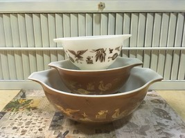 Vintage Pyrex Early American Cinderella Mixing Bows #444,# 442 & #441.Co... - $20.00