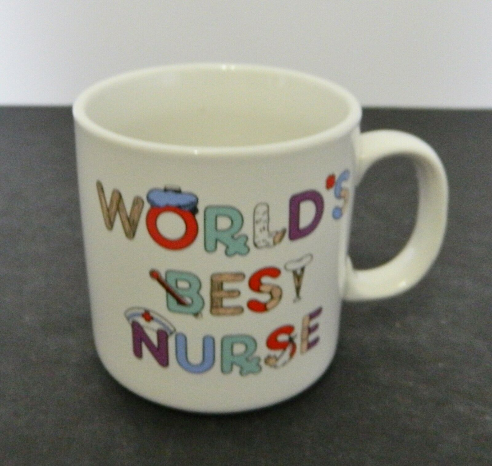Primary image for Russ Berrie Coffee Mug Cup World's Best Nurse Logo 8 Ounces