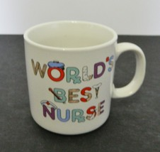 Russ Berrie Coffee Mug Cup World's Best Nurse Logo 8 Ounces - $14.84