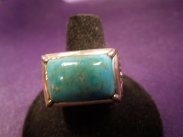 Large Ornate Filigree BARSE Sterling Silver 925 Turquoise Ring Sz 8.5 - $84.15