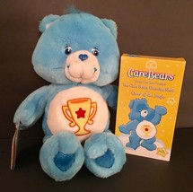 "CARE BEAR 13"" Stuffed Plush Toy Blue Champ Bear Play Along 2003 NWOB w VHS - $25.23"