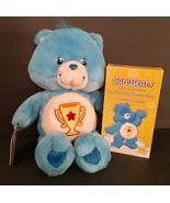 "CARE BEAR 13"" Stuffed Plush Toy Blue Champ Bear Play Along 2003 NWOB w VHS - $25.23"