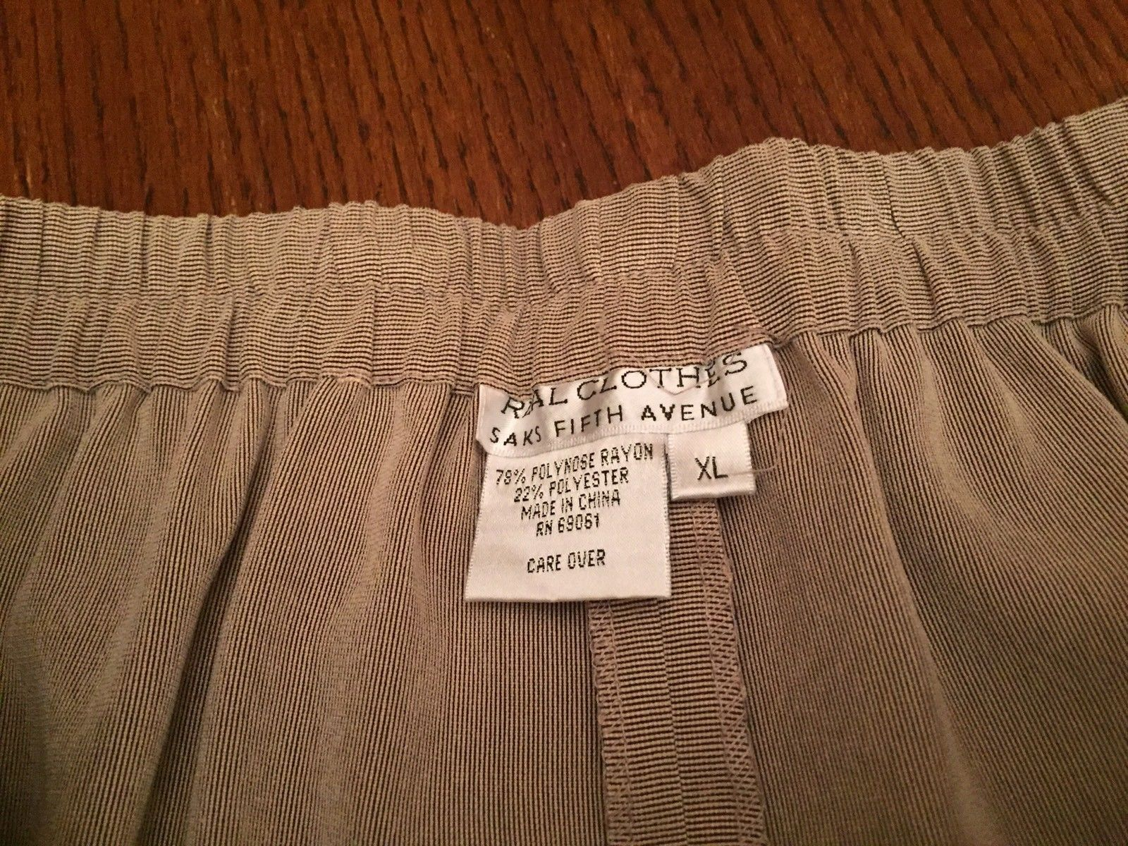 Women's Real Clothes Saks Fifth Avenue Dress Pants Trousers XL New Brown Stripe