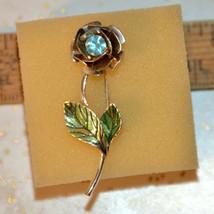 Vintage signed Avon enamel rhinestone Flower floral Brooch Scatter Pin Jewelry - $6.92