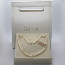 Necklace in White Gold 18KT and Silver 925 with Pearls 5.5 6 mm Beautifu... - $185.03