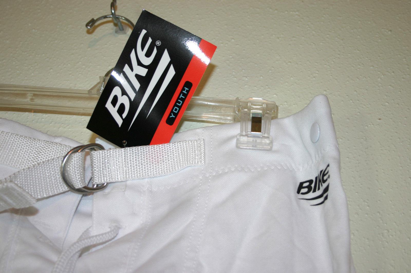 New BIKE Brand Boys Youth Size XL White Football Practice Pants