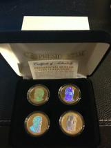 2011 USA MINT HOLOGRAM PRESIDENTIAL $1 DOLLAR 4 COIN SET Gift Box Certified - $21.87