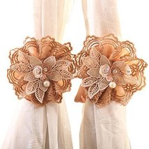 George Jimmy 1Pair Rose Flower Window Curtain Tieback Buckle Clamp Hook Fastener - $27.03