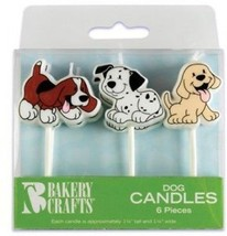 6 Pc Puppy Dog Cake Candles - $20.03