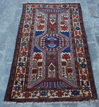 Stunning Vintage Persian Shirazi rug 100% wool hand knotted area rug - $209.90