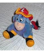 "Disney Winnie Pooh 6"" Plush #1 Fireman Eeyore Sitting in Hat & Boots - $8.99"