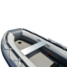 BRIS 8.2 ft Inflatable Boat Pontoon Dinghy Raft Boat With Air-deck Floor image 4