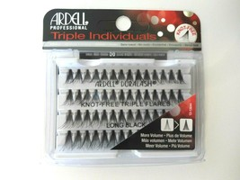 Ardell Eyelash Knot Free Triple Flares Individual Long Black ( pack of 4) - $22.99