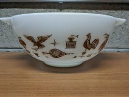 Vintage Pyrex Early American Cinderella Bowl #443 White 2 1/2 Qt - $13.86