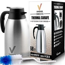 Coffee Carafe (68 Oz) + Free Brush - Keep water hot up to 12 Hours, stai... - $29.45