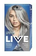 2 X Schwarzkopf Live Metallic Shine Booster Permanent Hair Dye Metallic Silver - $24.99