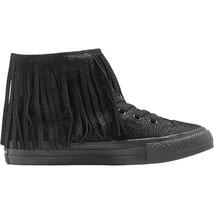 Converse All Star Hi CTAS Metallic Leather Triple Black 553331C Womens Shoes - $69.95