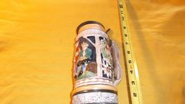 1950'S/1960's Elaborate CERAMIC BEER STEIN with METAL LID * Music won't ... - $5.00