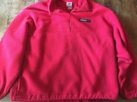 Speedo Fleece Red Pull Over Zip Front Swim Cover Up Coat Men's XL - $14.24