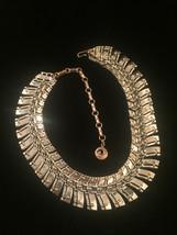 Vintage 60s Segmented Gold Spine Choker Necklace image 5