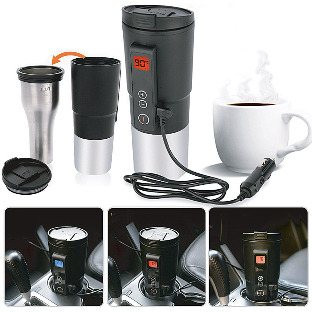 12V 400ml Coffee mug vehicle thermos Heating Temperature Control  Portable cup