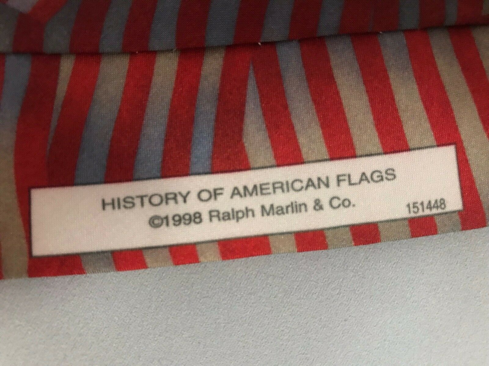 Ralph Marlin History of American Flags Patriotic 4th of July Neck Tie 1998 USA image 4