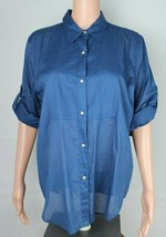 Lauren Ralph Lauren women's shirt blue long sleeve button front size L - $17.89