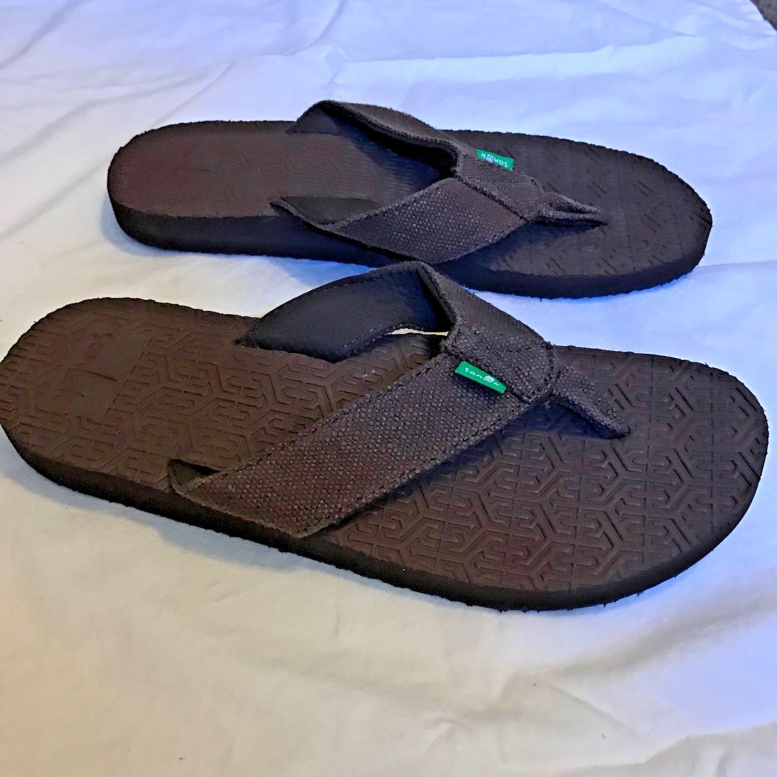 fb718927db99d SANUK Flip Flops OG SQUOOSH - BROWN - Men's - 9 - Thong Sandal Shoes - NEW
