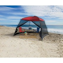 Large Beach Canopy Tent Screen House 10 x 10 ft Sun Shade with Mosquito ... - $115.99 CAD