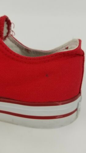 San Francisco SF Unisex Adult Converse Slip On Shoes Size 8m Red Campus Footnote image 4