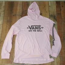 Vans Men's Hooded Long Sleeve Shirt Size XXL Pink RS7 - $28.70