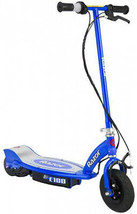 Razor E100 Electric Scooter (Blue) With Helmet, Elbow and Knee Pads - $233.95