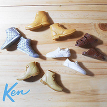 2016 / 2017 Ken Doll Fashionista Accessories : 5 Pair of Shoes & Sandal - $8.15