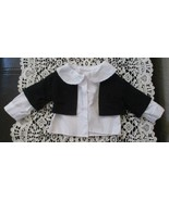 """White Riding Shirt With Black Vest for Doll 5-3/4"""" long with 5-1/2"""" Shoulders - $6.92"""