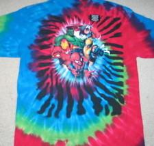 Marvel Comics Five Popular Heroes Group Tie-Dye T-Shirt, NEW UNWORN - $14.50