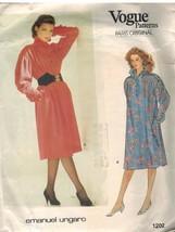 1202 Uncut Vogue-Schnittmuster Misses Einzelne A-Linie Pullover Kleid E.... - $8.98