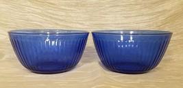 """Vintage Pyrex """"Sculptured"""" Cobalt Blue Vegetable Bowl, 7 1/4 inch - $27.00"""