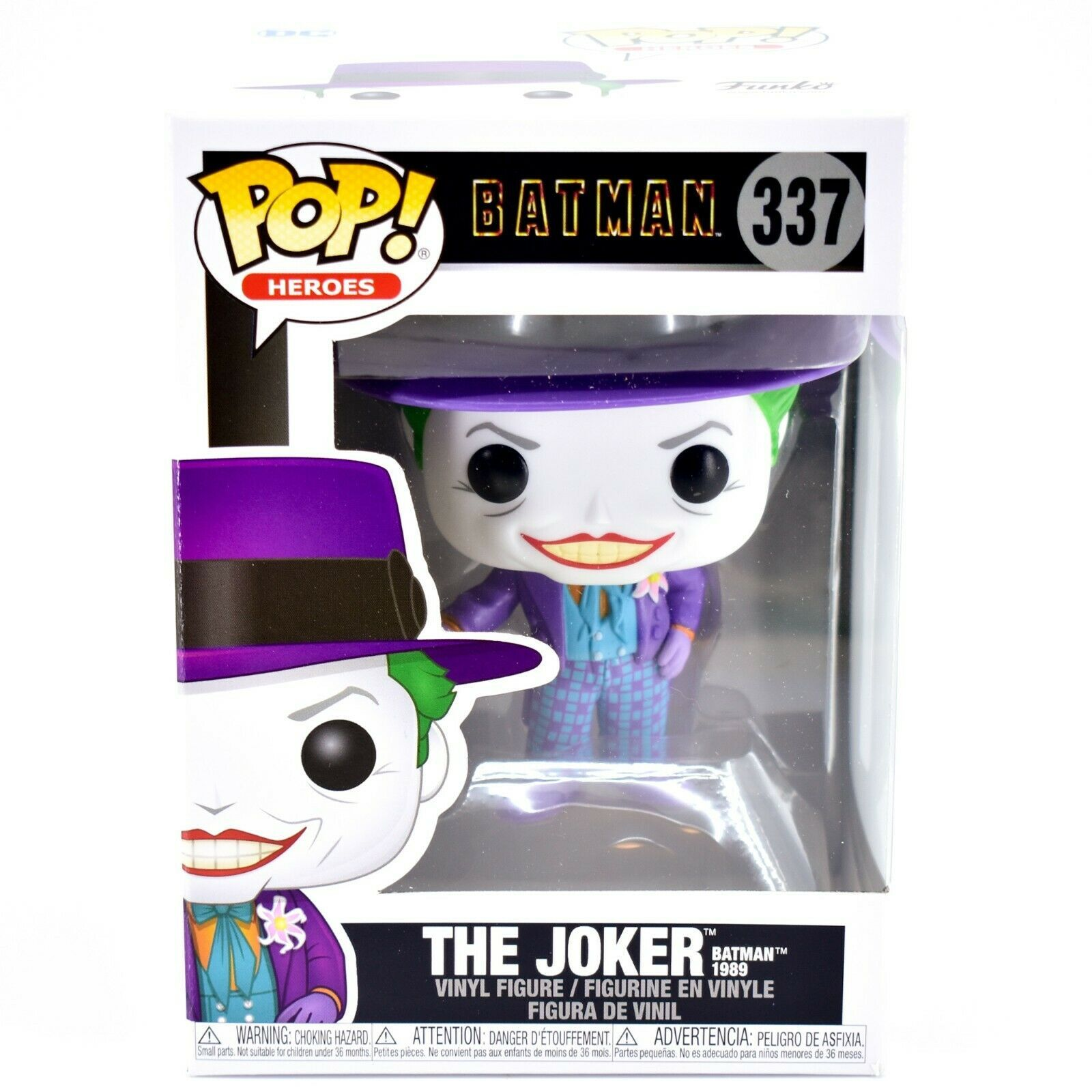 Funko Pop! Heroes Batman The Joker 1989 #337 Vinyl Figure