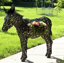 Metal Donkey Planter Statue 3.5ft. Tall - $699.99
