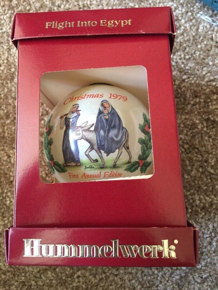 Vtg NEW Hummelwerk Flight Into Egypt Janet Robson Christmas Tree Ornament