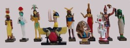 """Ancient Egypt Egyptian God 11 Figurines Set Resin Statue size 5"""" high Is... - $48.73"""