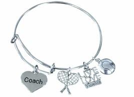 Tennis Coach Bracelet, Tennis Bangle Jewelry, Perfect Tennis Coach Gift - $16.50