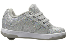 Heelys Split Sneaker Size 2 M (Y) Big Kid Girl's Wheel Skate Roller Shoes Silver