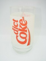Vintage Diet Coke Glass Swirl Drinking Cup VTG White Red Collector Cup 1... - $6.79