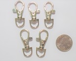 Metal Lobster claw clasp hook 1 1/2 in Round eye Swivel D ring Craft supply - $4.25