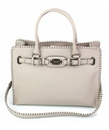 Michael Kors Whipped Hamilton Cement Beige Leather Tote Bag Large Handbag - $435.61