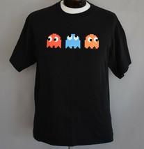 Vintage PAC-MAN Ghosts Namco Graphic Tee Retro Gaming Gamer Medium to Large - £23.48 GBP