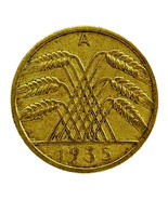 1935 A Germany Weimar Republic 10 Reichspfennig Actual Photos Shown Lot ... - $10.16 CAD