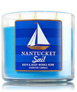 Bath & Body Works Nantucket Sail Three Wick 14.5 Ounces Scented Candle - $23.71